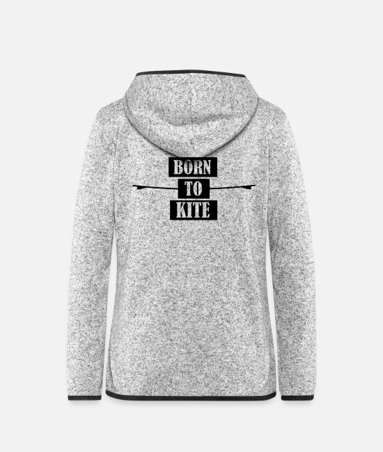 Wakeboard Jackets - Kiteboard,Kiteboarder,Kite,Kiteboarding,Sea,Board - Women's Hooded Fleece Jacket light heather grey