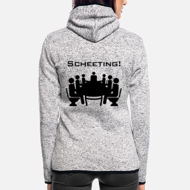 Meeting Scheeting (Scheiß-Meeting) - Frauen Fleece Kapuzenjacke