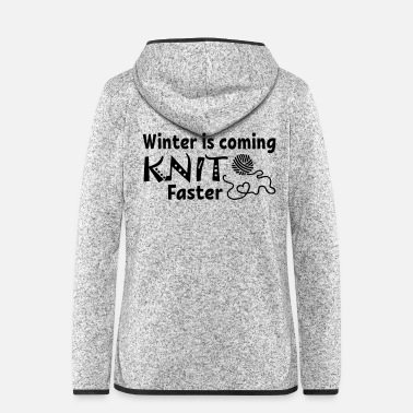 Advent Knit Faster - Frauen Fleece Kapuzenjacke