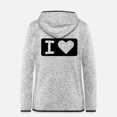 I Heart I HEART - Frauen Fleece Kapuzenjacke