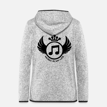 Stylish Music is my life - Stylish logo - Frauen Fleece Kapuzenjacke