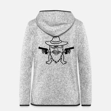 Raider Cowboy pistols gangster raid shoot evil raiders th - Women's Hooded Fleece Jacket