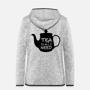 England tea_is_all_i_need_01 - Women's Hooded Fleece Jacket