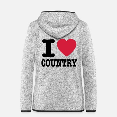 Country i love country / i heart country - Hætte-fleecejakke dame
