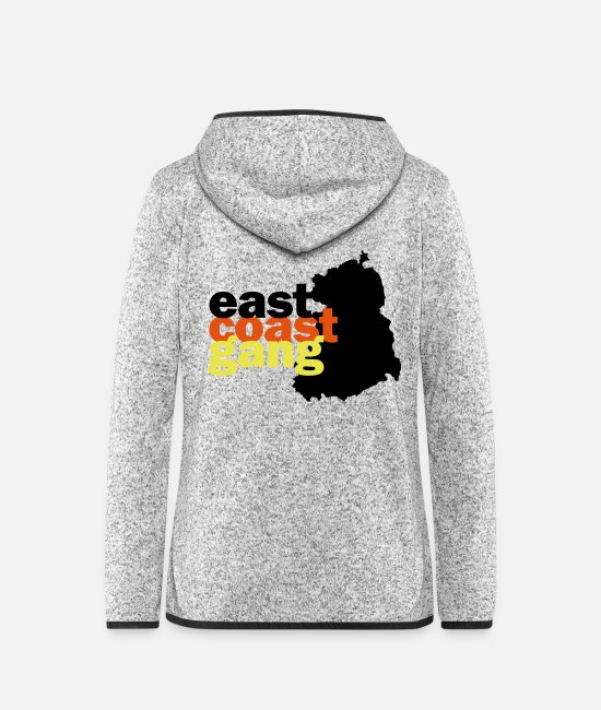 Gang Jackets - east coast gang from the GDR - Women's Hooded Fleece Jacket light heather grey