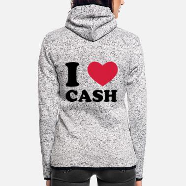 Cash cash - Frauen Fleece Kapuzenjacke