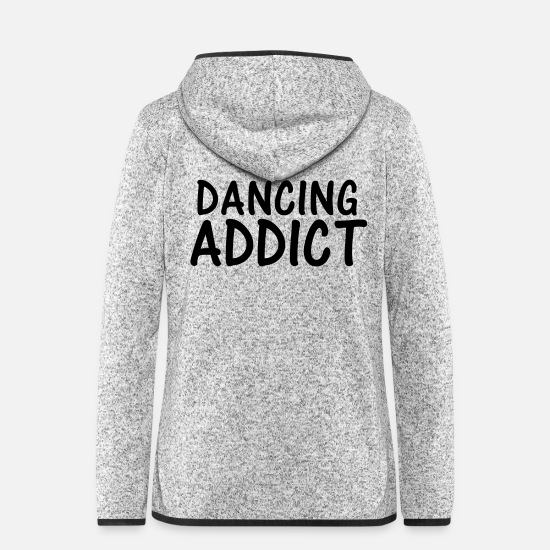 Dancer Jackets - dancing addict - Women's Hooded Fleece Jacket light heather grey