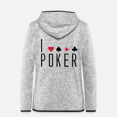 Chip Leader i_love_poker - Women's Hooded Fleece Jacket