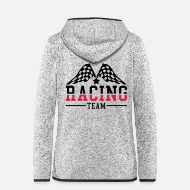 Motor racing_team_ri2 - Women's Hooded Fleece Jacket