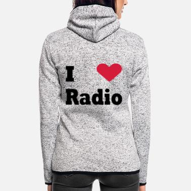 Radio Radio - Women's Hooded Fleece Jacket