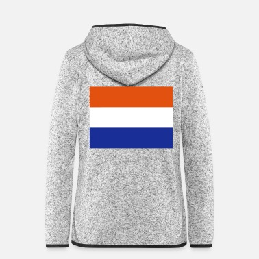 Niederlande Holland Flagge - Frauen Fleece Kapuzenjacke