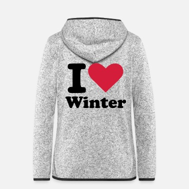 Winter Winter - Frauen Fleece Kapuzenjacke