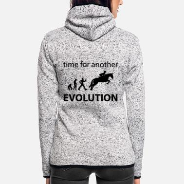 Sayings Evolution spring - Women's Hooded Fleece Jacket