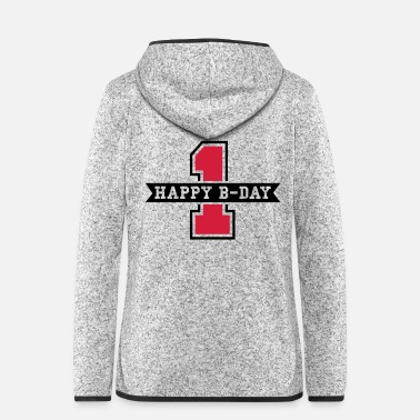 First happy_bday_1f2 - Women's Hooded Fleece Jacket
