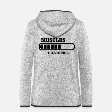 Muscle muscles - Women's Hooded Fleece Jacket