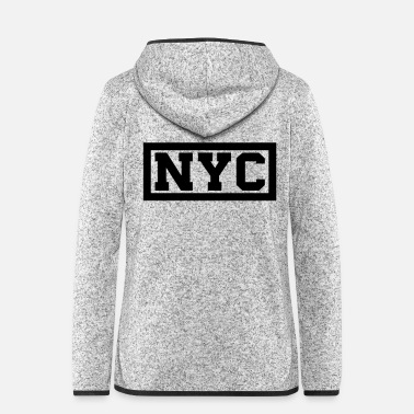Nyc NYC - Frauen Fleece Kapuzenjacke