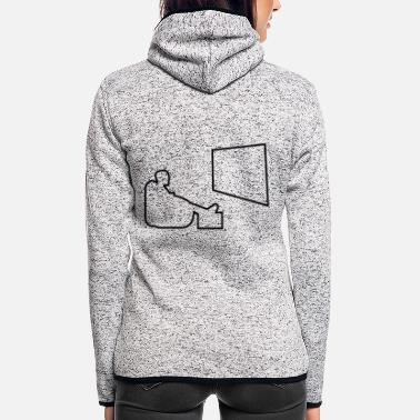 Tv tv - Frauen Fleece Kapuzenjacke
