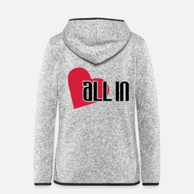Chip Leader all_in_herz - Women's Hooded Fleece Jacket