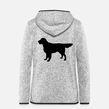 Flatcoat Retriever Dog - Frauen Fleece Kapuzenjacke