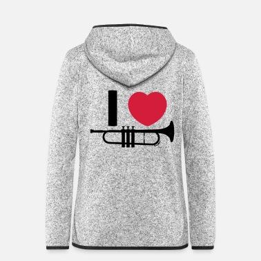 Music music - Women's Hooded Fleece Jacket