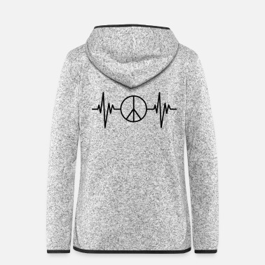 Pulse Peace Pulse - Women's Hooded Fleece Jacket