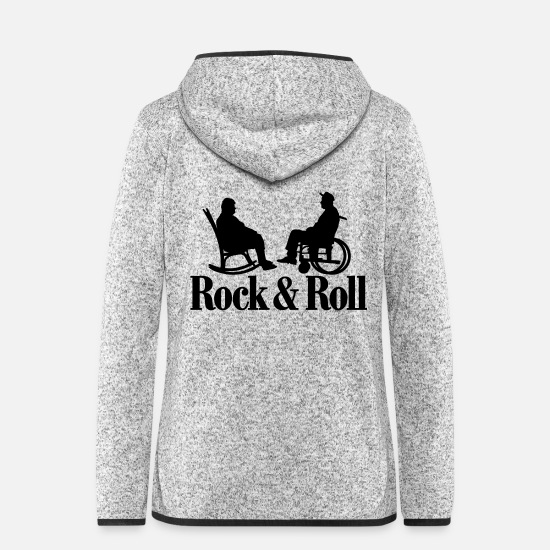 Rock Jackets - Rock / Roll 1clr New - Women's Hooded Fleece Jacket light heather grey