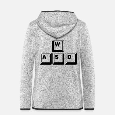 Game WASD Game Control Key combo - Women's Hooded Fleece Jacket