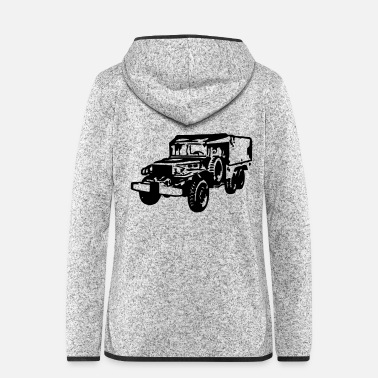 Dodge AVM DODGE 6x6 WC63 - VECTOR - MULTICOLOR DESIGN - Women's Hooded Fleece Jacket