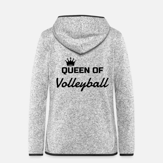 Play Jackets - Volleyball - Volley Ball - Volley-Ball - Sport - Women's Hooded Fleece Jacket light heather grey