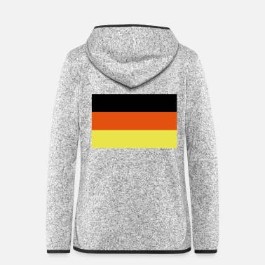 Deutsch Deutsche Flagge - Frauen Fleece Kapuzenjacke