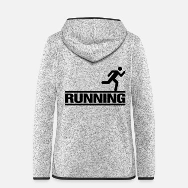 Running Running - Women's Hooded Fleece Jacket