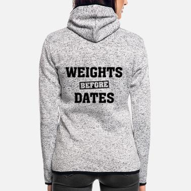 Date Weights Before Dates - Veste à capuche polaire Femme