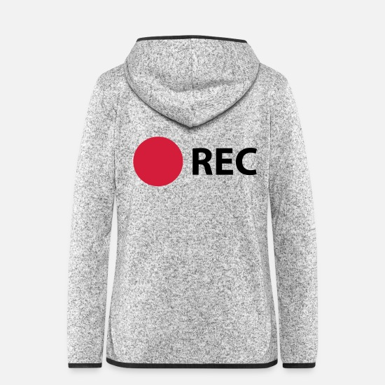 Photographer Jackets - RECORD - Women's Hooded Fleece Jacket light heather grey