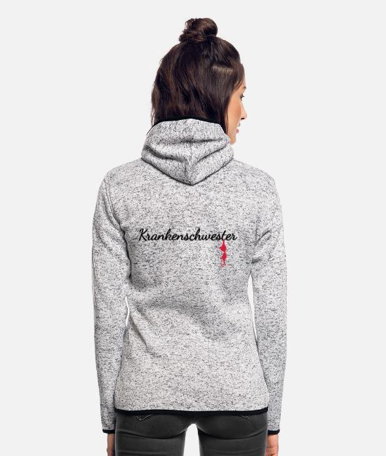 Medicine Jackets - Nurse - Women's Hooded Fleece Jacket light heather grey