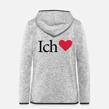 I Love I Love - Frauen Fleece Kapuzenjacke