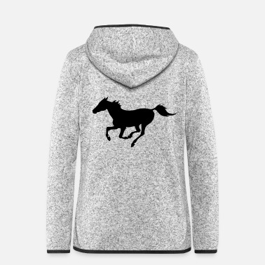 Gallop Horse galloping - Women's Hooded Fleece Jacket