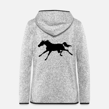 Gallop Galloping Horse - Women's Hooded Fleece Jacket