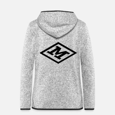 Cubes Cube Monogram Clear M TOP - Frauen Fleece Kapuzenjacke