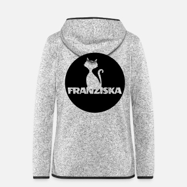 Birth Name Franziska Nameday first name personal gift moonlig - Women's Hooded Fleece Jacket