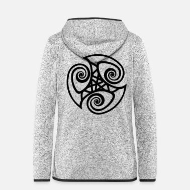 Celtic Triskelion - Women's Hooded Fleece Jacket
