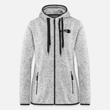 Bone Fish Bone - Women's Hooded Fleece Jacket