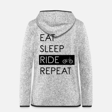 Bmx EAT SLEEP RIDE REPEAT - Design BMX - Veste à capuche polaire Femme