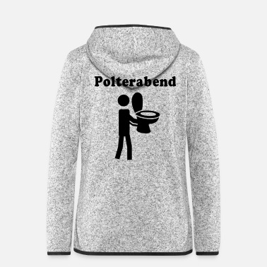 Restroom wedding-eve party - Women's Hooded Fleece Jacket