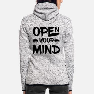 Open Open Your Mind - Veste à capuche polaire Femme