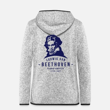 Ludwig Ludwig van Beethoven, Classical, Music - Veste à capuche polaire Femme
