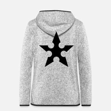 Ninja ninja star - Frauen Fleece Kapuzenjacke