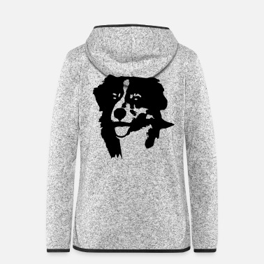 Aussie Australian Shepherd head - Women's Hooded Fleece Jacket