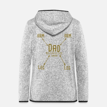 Daddy daddy - Frauen Fleece Kapuzenjacke
