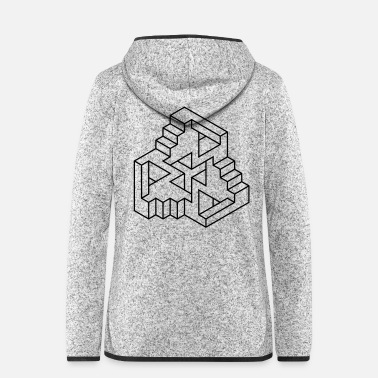 Abstract Impossible Figures 77A - Women's Hooded Fleece Jacket