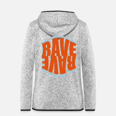 Music rave logo - Women's Hooded Fleece Jacket